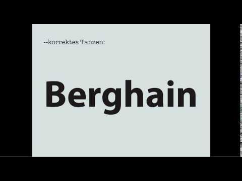 Korrektes Tanzen: Berghain