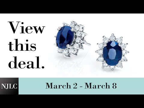 Deal of the Week: White Gold Sapphire and Diamond Stud Earrings