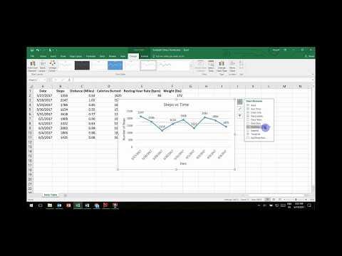Excel Fitness Tracker Tutorial