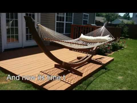 How to build deck over concrete patio DIY