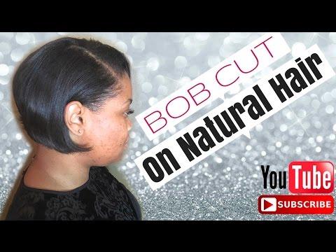 Short Bob Cut On Natural Unprocessed Hair
