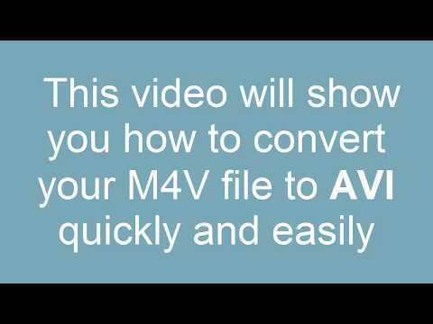 How to Convert M4V to AVI