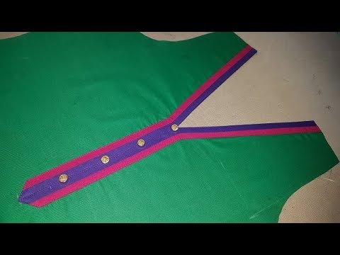 Simple Front V Neck Designs Cutting and Stitching