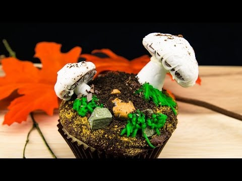 Mushroom Cupcakes: Meringue Mushroom Cupcake Recipe from Cookies Cupcakes and Cardio