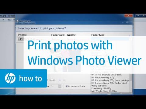 Printing Photos with Windows Photo Viewer