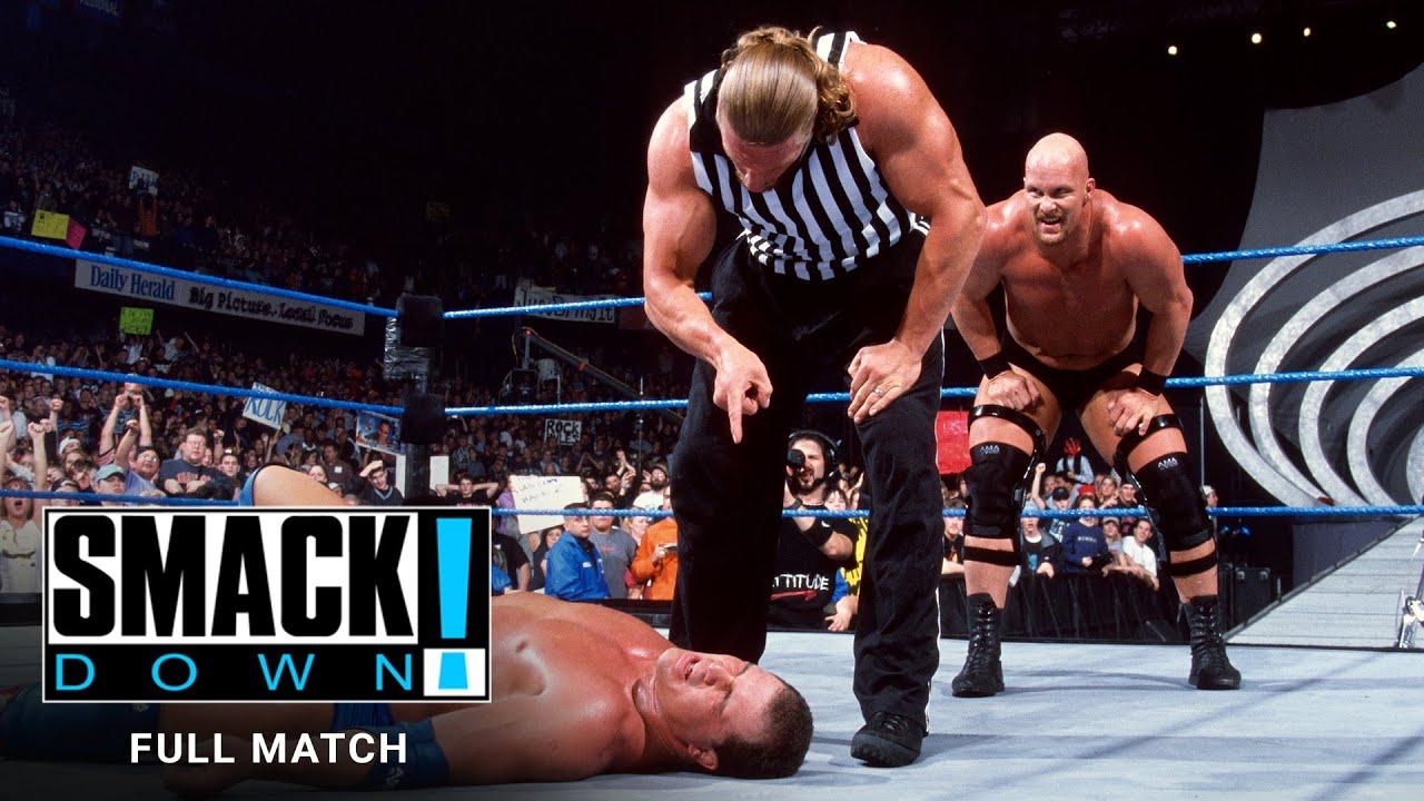 "FULL MATCH - The Rock, ""Stone Cold"" & Undertaker vs. Angle, Kane & Rikishi: SmackDown, Jan. 18, 2001"