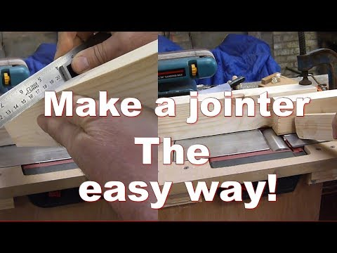 Make your electric plane into a JOINTER - THE EASY WAY!