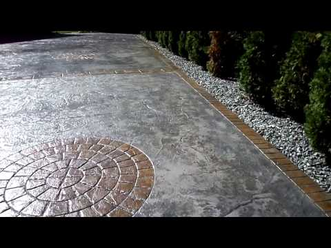 stamped concrete driveway after cleaning sealing video warwick ri