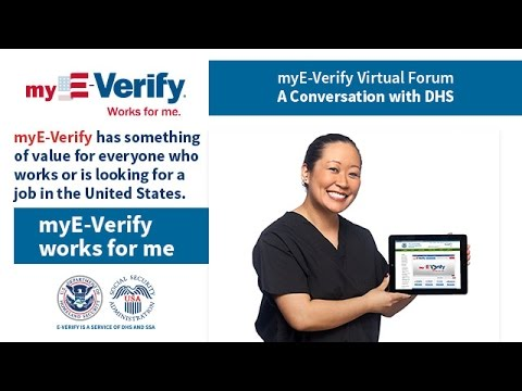 myE-Verify Virtual Forum: A Conversation with DHS