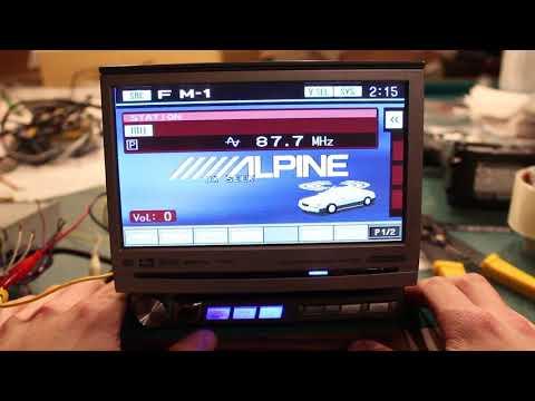 Alpine IVA-D300 Multimedia Deck Flip Touch Screen Overview