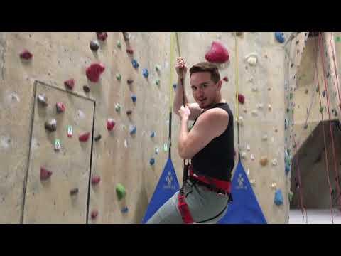 Trying indoor rock climbing - Climbers rock -  best date idea