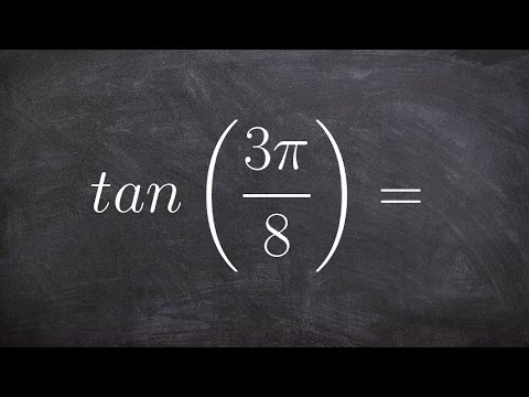 How to evaluate for the half angle of tangent