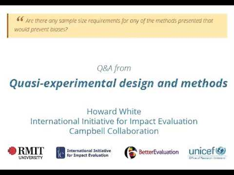 Quasi-experimental design and methods - Sample size requirements to prevent biases?