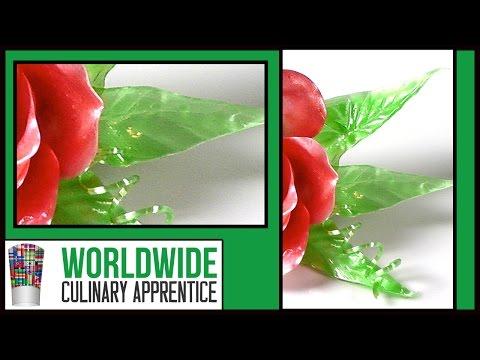 How to Pull Sugar Petals - Sugar Garnish - Sugar Art - How to Cook and Make Pulled Sugar Part 4