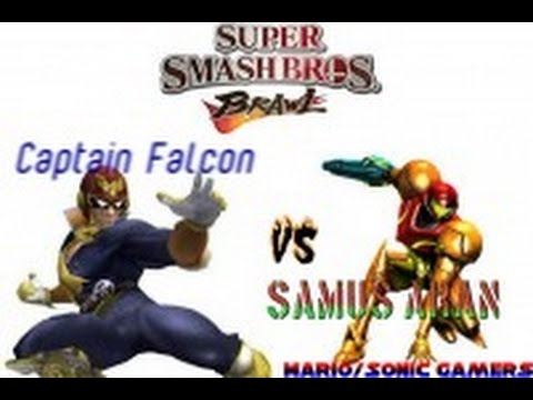 SSBB Captain Falcon vs Samus Aran