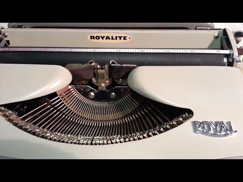 Royal Royalite Typewriter Ribbon Install Demo Clean & Serviced Vintage Manual from 1960
