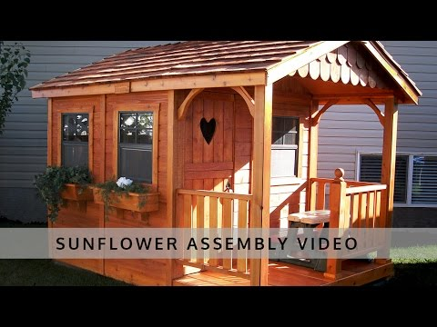 Sunflower Playhouse 6x9 Assembly Video