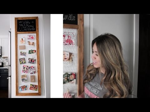 How to Make Chalkboard Chicken Wire Christmas Card Display Frame