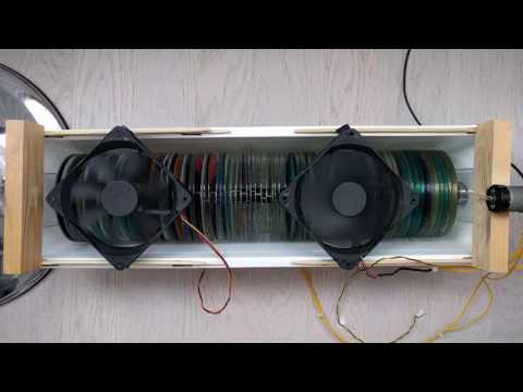 DIY air cleaner from CD and DVD disks