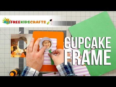 Cupcake Liner Flower Frame