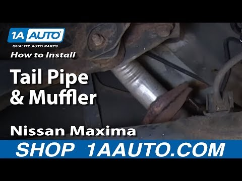 How To Install Replace Tail Pipe and Muffler 2000-03 Nissan Maxima