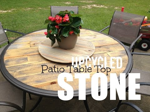 Wood Patio Table Top - Upcycled