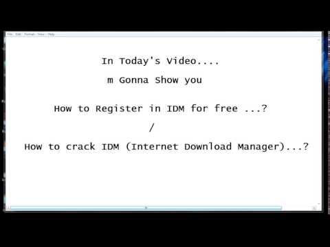 Free Registration in IDM without serial number../ Steps to crack IDM..