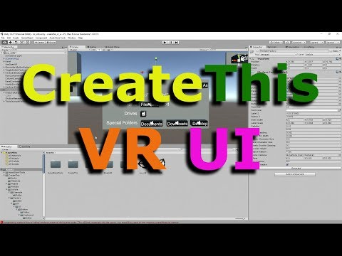 CreateThis VR UI - Why should VR devs care?