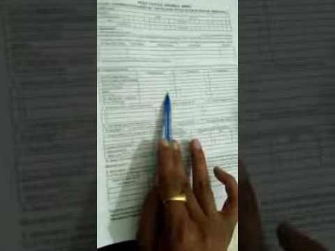 how to fill a form in post office account open