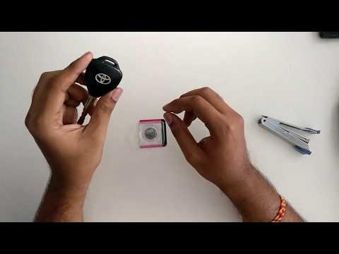 toyota innova key remote battery change