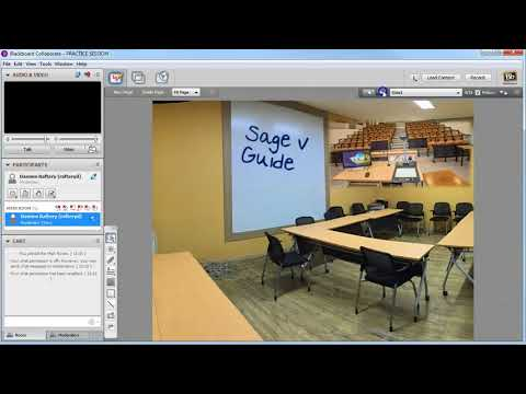 Loading a PowerPoint file to Collaborate and saving as a Whiteboard file