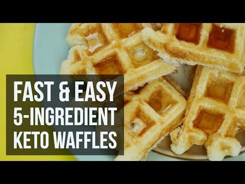Fast & Easy 5-Ingredient Keto Waffles | Low Carb Breakfast Recipe by Forkly