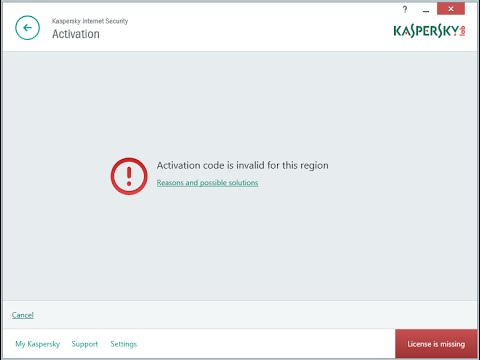 "[Fix] Kaspersky Error ""activation Code Is Invalid for This Region"" 