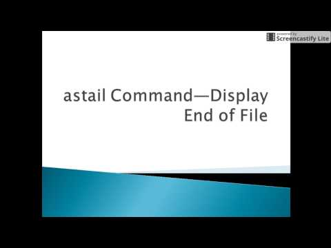 Autosys Tutorial: astail Command—Display End of File
