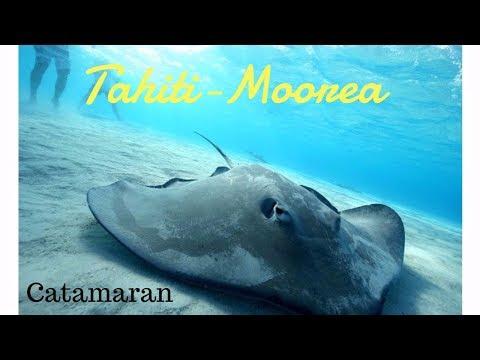 ***DE TAHITI A MOOREA EN CATAMARAN*** #Vlog1 / 4