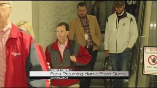 Alabama fans arrive home from Tampa