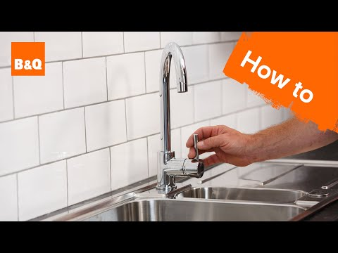 How to replace a kitchen tap part 3: fixing your new tap