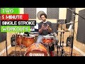 Download  TWO 5 MINUTE SINGLE STROKE WORKOUTS - Developing Great Hands w/ Beatdown MP3,3GP,MP4