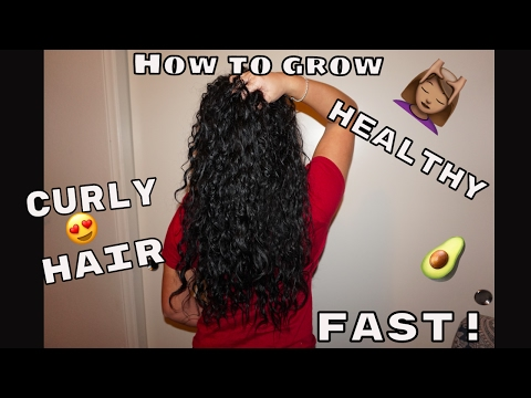 HOW TO GROW STRONG HEALTHY CURLY HAIR FAST! | My 5 Tips