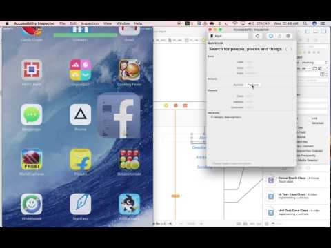 Appium v1.6.0 - How to inspect iOS element using Xcode accessibility inspector