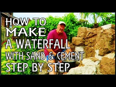 How to build a waterfall. Just Sand & Cement. PART ONE.