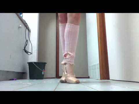 demi pointe shoes and demi pointe exercises READ DESCRIPTION