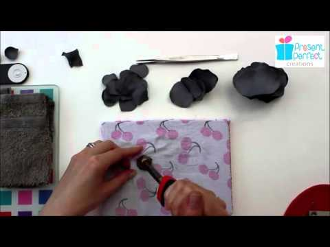 Shaping leather rose petals with millinery tools