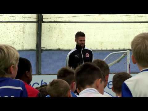 Oliver Norwood visits Summer Soccer School at the Dome, Madejski Stadium