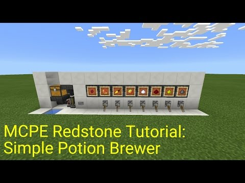 Minecraft Pocket Edition Redstone Tutorial: Simple Potion Brewer