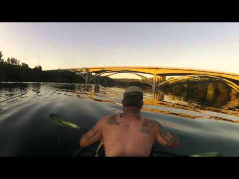 Time Lapse Paddle on Lake Natoma Willow Creek to Folsom Lake Prison Boundry GOPRO