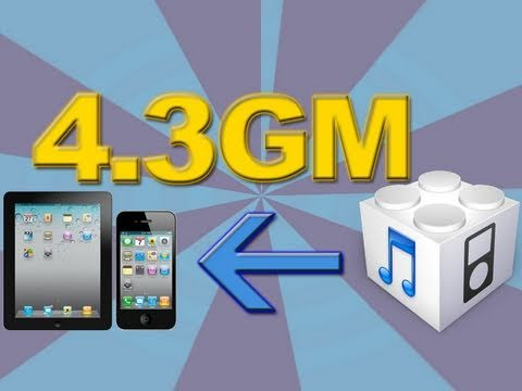 Install iOS 4.3 GM - iPhone 4/3GS, iPod Touch 4G/3G & The iPad - Guide