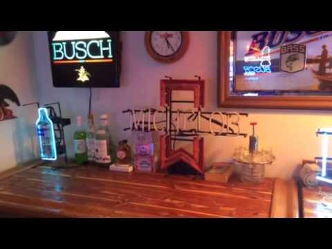 Man cave neon beer signs