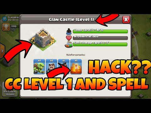 Clan castle level 1 and spell request how impossible clash of clans(hindi)sam1735