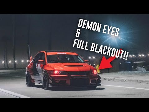 PAINTING CUSTOM EVO 8 HEADLIGHTS - INSTALL DIY
